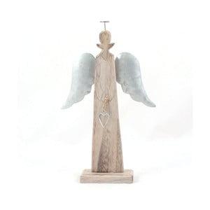Dřevěný anděl Dakls, výška 24 cm