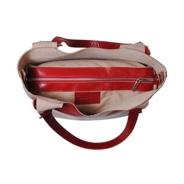 Červená kabelka z pravé kůže Andrea Cardone Stefano