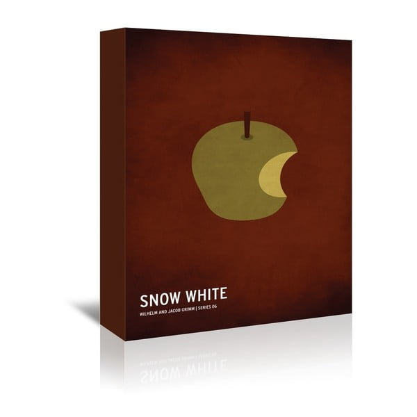 Obraz na plátně Snow White With Text od Christiana Jacksona
