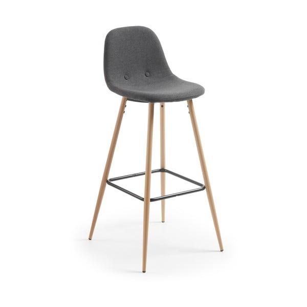 Tmavosivá barová stolička La Forma Nilson
