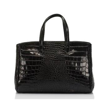 Geantă neagră din piele Lisa Minardi Magnata imagine