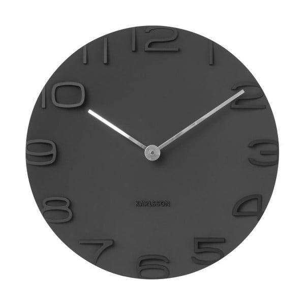 Černé nástěnné hodiny Karlsson On The Edge