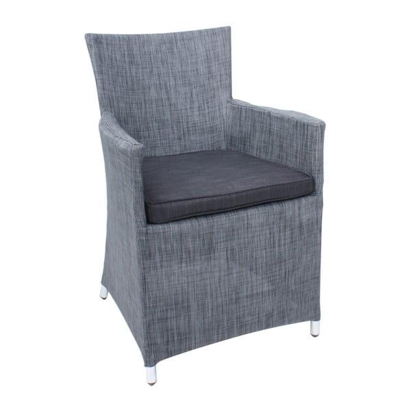 Sada 2 šedých zahradních židlí s podsedákem ADDU Odessa Armchair