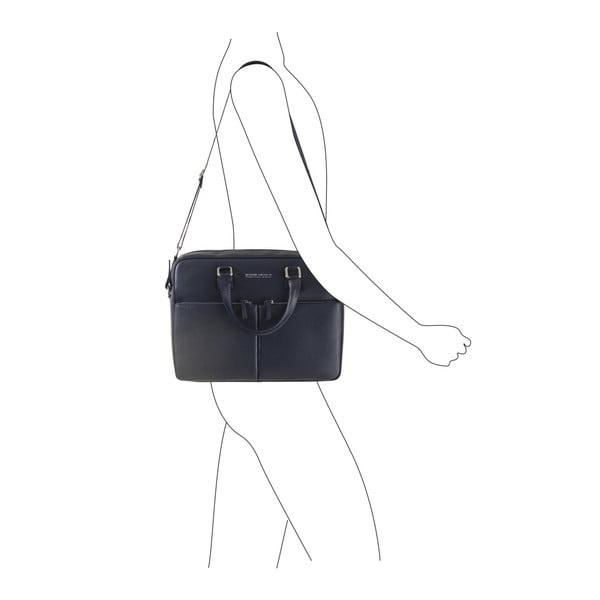 Tmavě modrá taška / kabelka z pravé kůže Andrea Cardone Santo Crispo