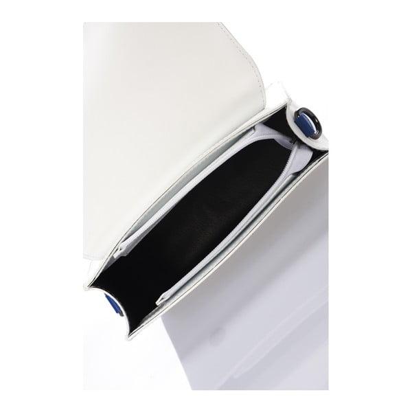 Bílá kožená kabelka Lisa Minardi Cristel Blue