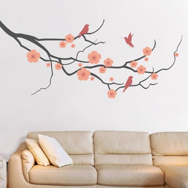 Samolepka Cherry Branch, 90x60 cm