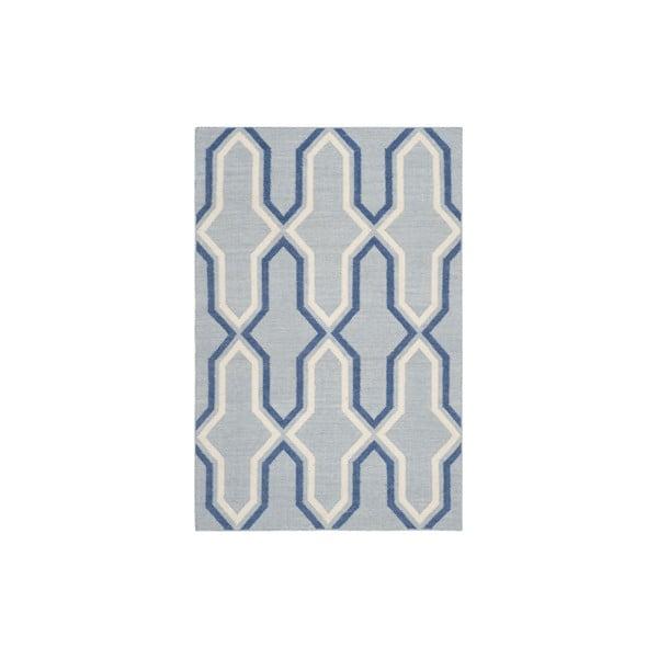 Niebieski wełniany dywan Safavieh Aklim, 243x152 cm