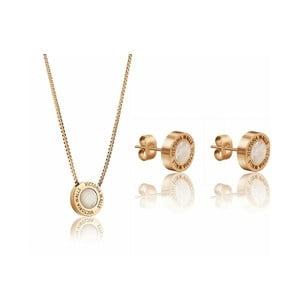 Set náhrdelníku a náušnic z chirurgické oceli ve zlaté barvě Victoria Walls Lia
