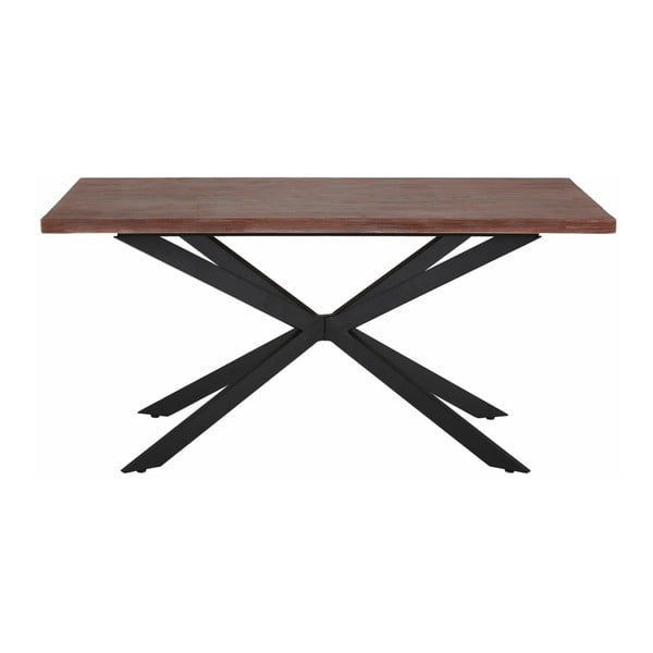 Jídelní stůl v tmavém přírodním dekoru Støraa Adrian, 160 cm