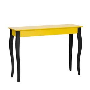 Žlutý konzolový stolek s černými nohami Ragaba Lilo, šířka 105cm