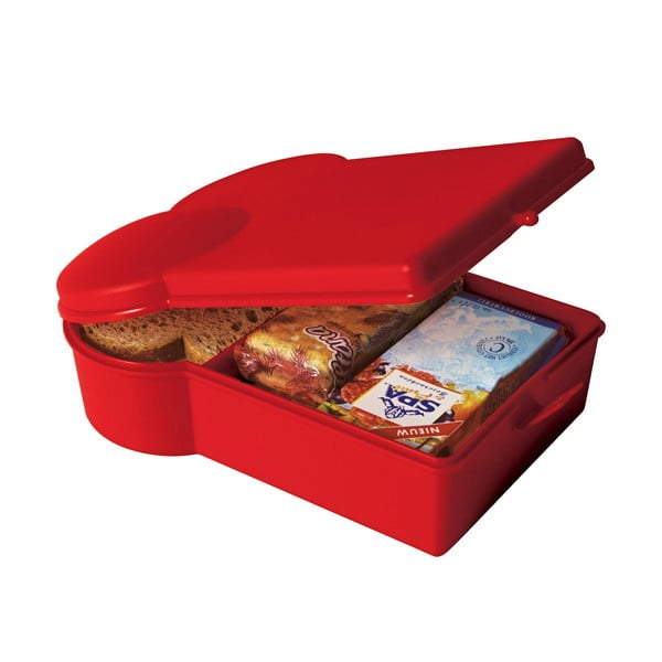 Svačinový box, červený
