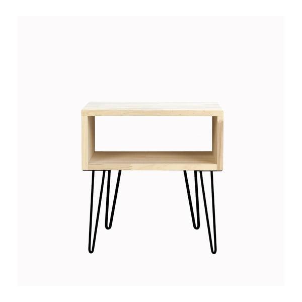 Odkladací stolík s čiernymi nohami Really Nice Things, výška 63 cm