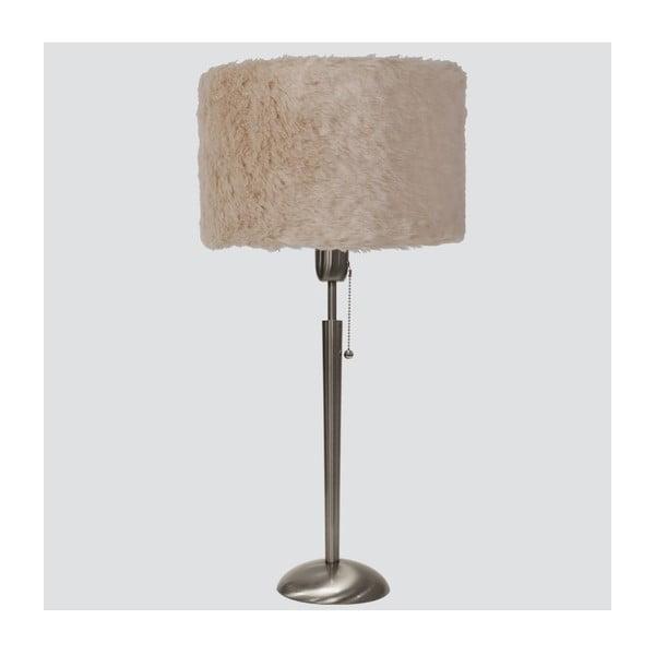 Stolní lampa s kožešinkou Invento