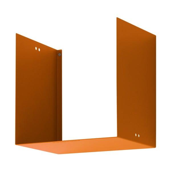 Nástěnná police Geometric One, oranžová