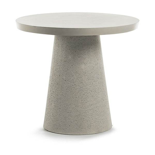 Szary stolik La Forma Rhette,Ø90cm