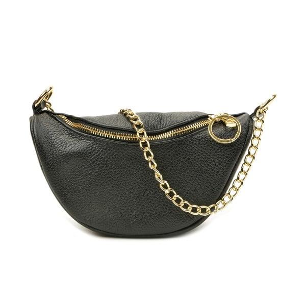 Černá dámská kožena kabelka Luisa Vannini Siena