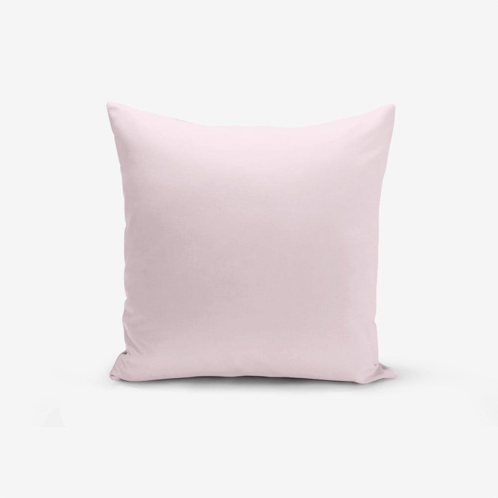Růžový povlak na polštář s příměsí bavlny Minimalist Cushion Covers , 45 x 45 cm