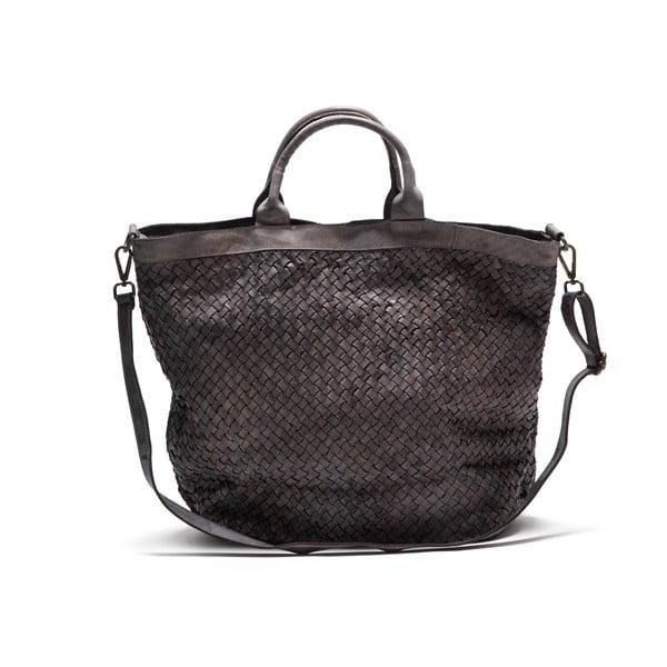 Kožená kabelka Anna Luchini 14 Grigio
