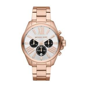 Dámské hodinky v barvě růžového zlata Michael Kors White