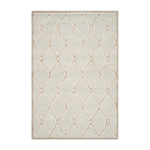 Vlněný koberec Augusta 121x182 cm, krémový