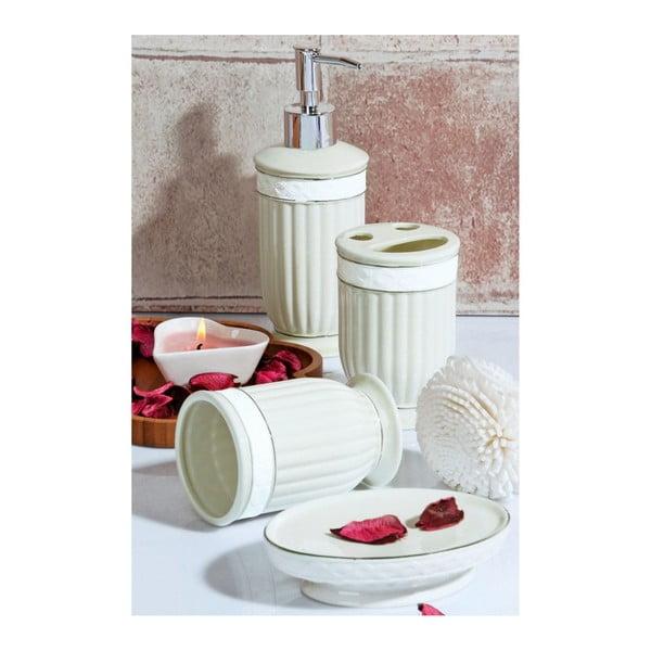 Set zelených koupelnových doplňků Victorian