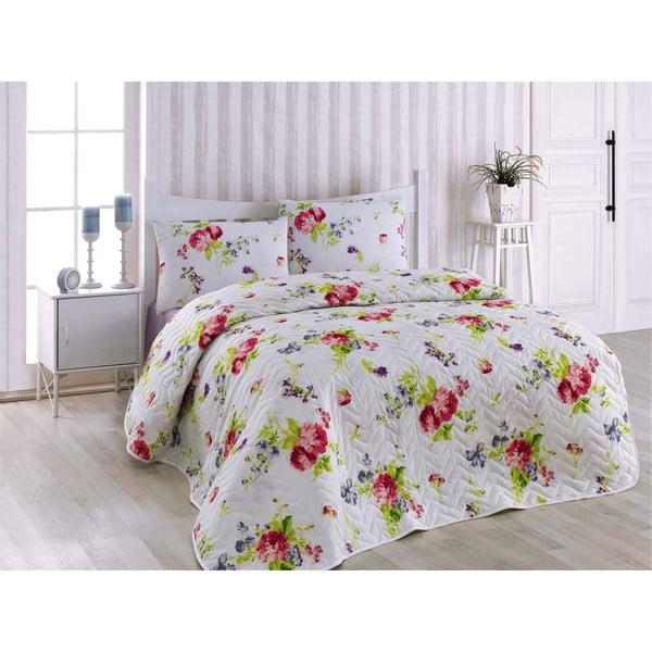 Přehoz přes postel a povlak na polštář Florance Lilac, 160x220 cm