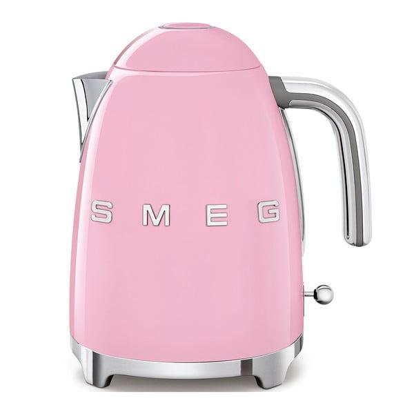 Ružová rýchlovarná kanvica SMEG