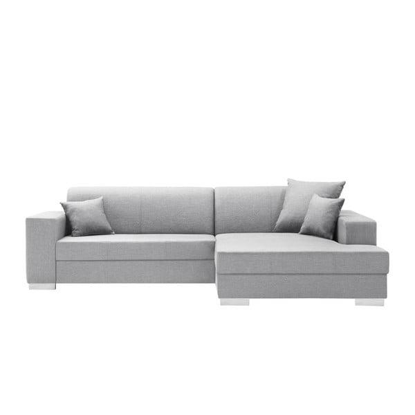 Canapea cu șezlong partea dreaptă Interieur De Famille Paris Perle, gri deschis