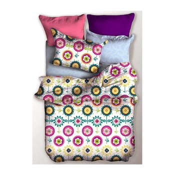 Lenjerie de pat din microfibră pentru pat dublu DecoKing Basic Rain, 200 x 200cm de la DecoKing
