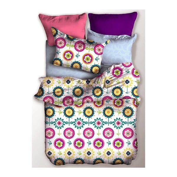 Lenjerie de pat din microfibră pentru pat de 1 persoană DecoKing Basic Rain, 155 x 220 cm