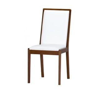 Bílá jídelní židle s textilním čalouněním Szynaka Meble Malta