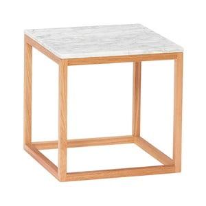 Dubový odkládací stolek s bílou deskou Hübsch Albert