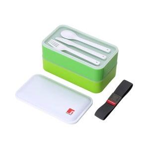 Cutie pentru gustare cu tacâmuri Bergner Walking, verde