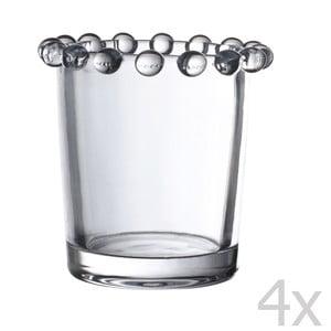 Sada 4 stojánků na svíčku Pearls