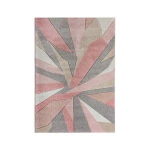 Růžový koberec Flair Rugs Shatter, 160 x 230 cm