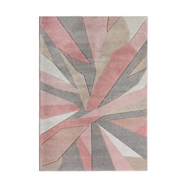 Růžový koberec Flair Rugs Shatter, 120 x 170 cm