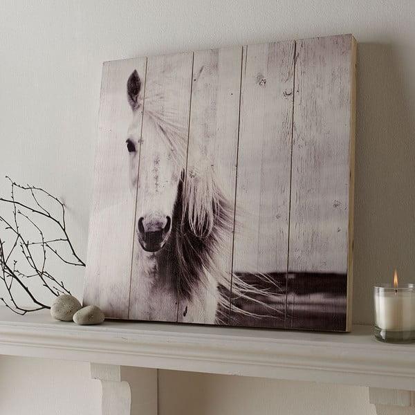 Tablou din lemn Graham & Brown Horse, 50 x 50 cm
