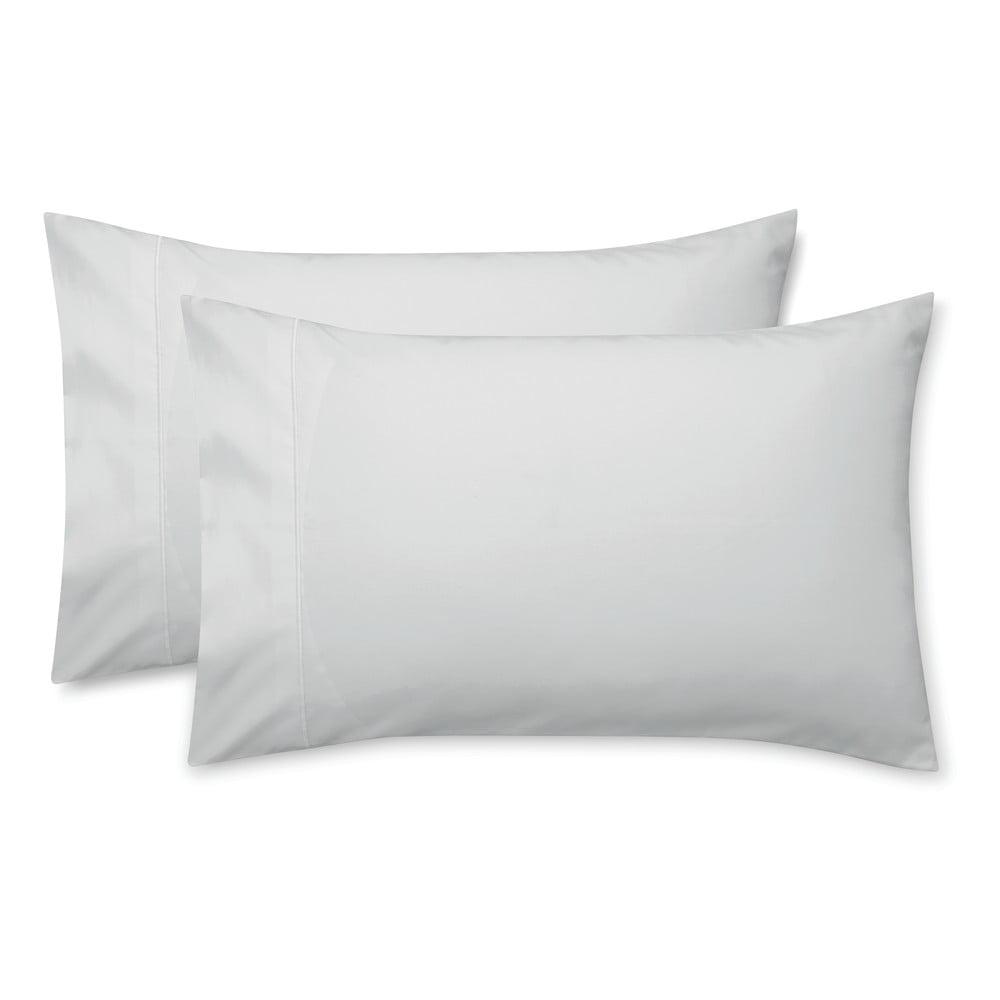 Sada 2 šedých povlaků na polštář z bavlněného saténu Bianca Standard Luxury, 50 x 75 cm