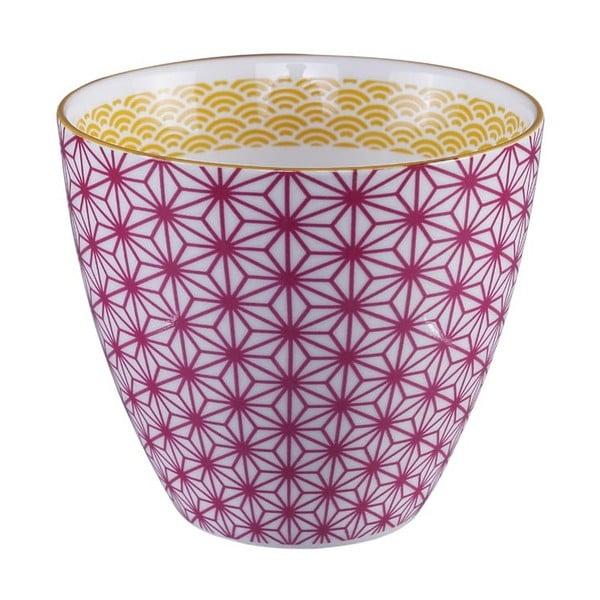 Růžovo-bílý hrnek na čaj Tokyo Design Studio Star/Wave, 350ml