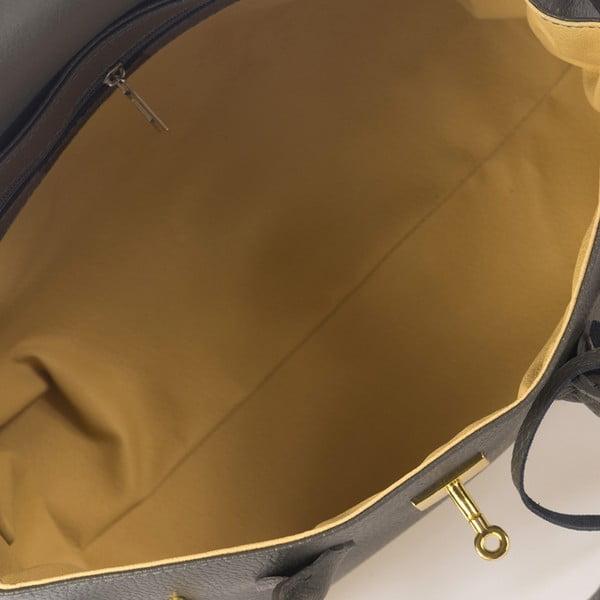 Šedá kožená kabelka Giulia Massari Dollaro