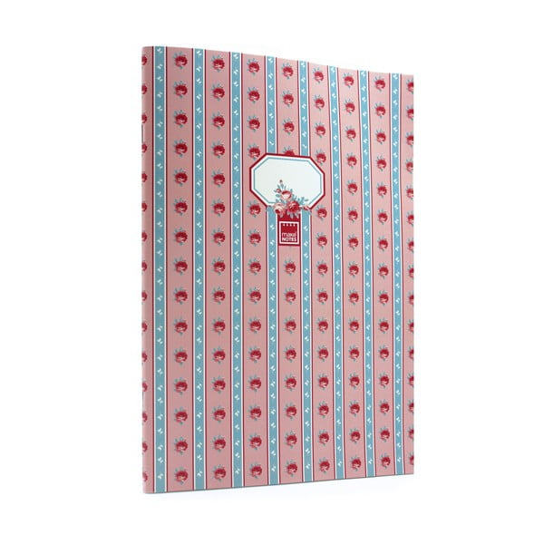 Růžovo-modrý zápisník A4 Makenotes Blue Vintage, 40 stránek