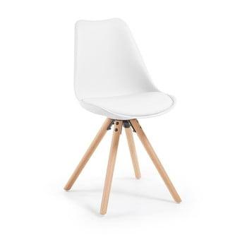 Scaun cu picioare din lemn de fag loomi.design Lumos, alb de la loomi.design