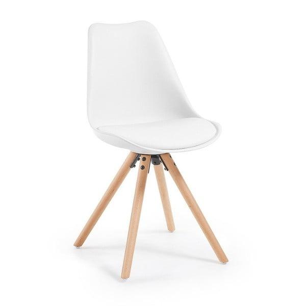 Scaun cu picioare din lemn de fag loomi.design Lumos, alb