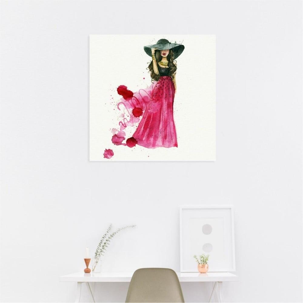 Nástěnný samolepicí obraz North Carolina Scandinavian Home Decors Girl V2, 30 x 30 cm