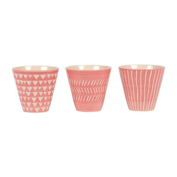 Zestaw 3 doniczek Sass & Belle Pink Mini Planters