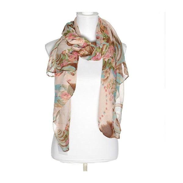Šátek BLE Inart 100x180 cm, růžový