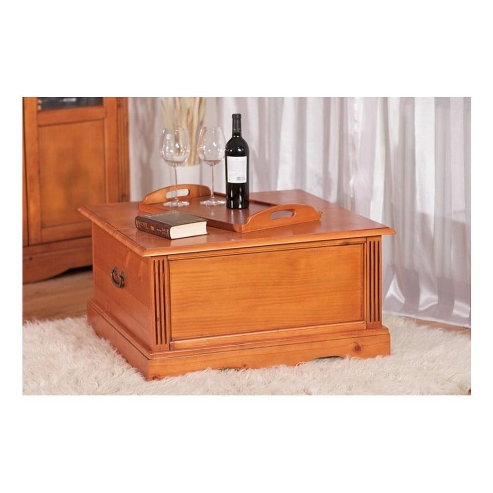 Konferenční stolek ve tvaru truhly z borovicového dřeva SOB Gotland