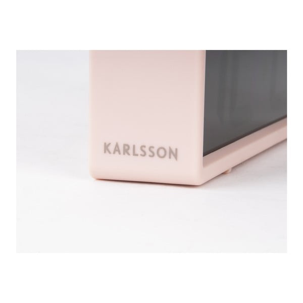 Růžový stolní budík Karlsson Coy