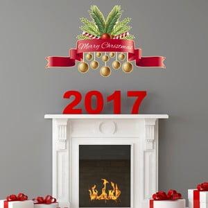 Autocolant de Crăciun Ambiance Merry Christmas Golden Decoballs