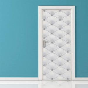 Adhezivní samolepka na dveře Ambiance White Padded Door, 83 x 204 cm
